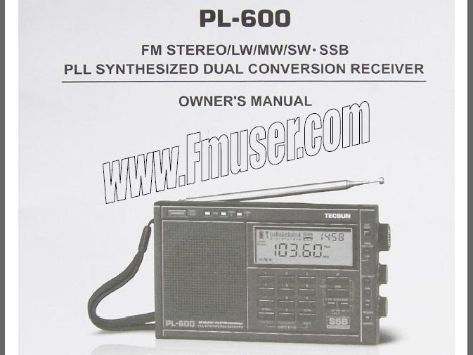 Stiahnite si TECSUN PL-600 Radio anglický manuál PDF