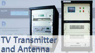 TV transmiter at antena