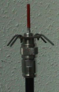 Antena muntada en el cable N-tipus.