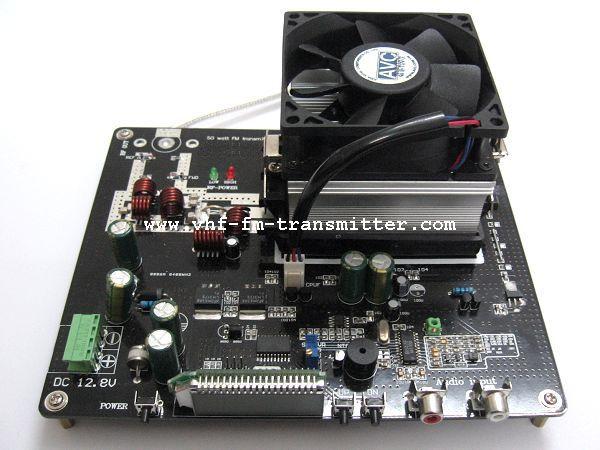 FMUSER 50W FM Radio Stereo Professionele PLL Transmitter Board V2.0 + Kragtoevoer