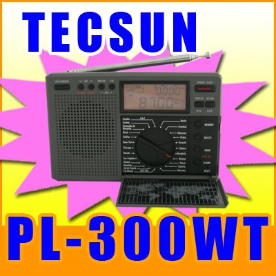 TECSUN PL-300WT DUNIANI TIME FM STEREO AM SW DUNIANI BAND Digital SIGNAL usindikaji RADIO