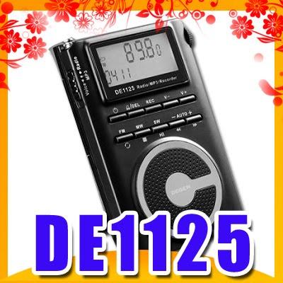 Degen DE1125 FM / MW / SW DSP Radio / 2GMP3 / Recorder