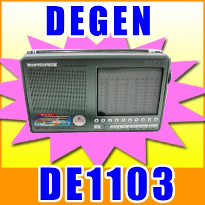 Degen DE1103 PLL DIGITAL FM Stereo / AM / LM / SW SSB Dunia Band Radio kupokea
