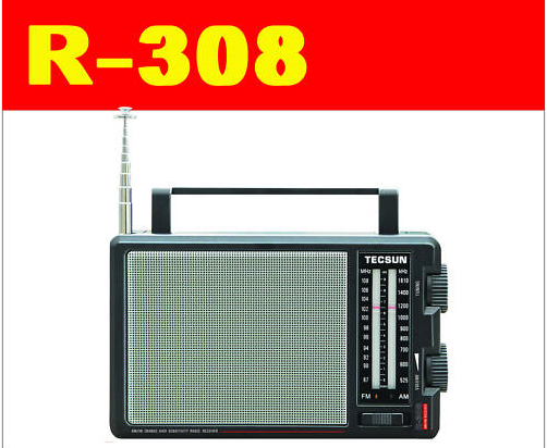 MPYA Tecsun R-308 ANALOG AM / FM KUBWA SPIKA RADIO R308