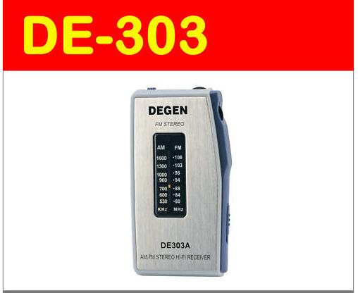 Degen DE303 Portable Mini AM / FM - Stereo Radio kupokea