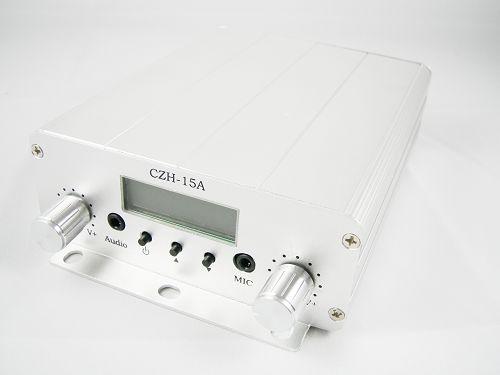 10 unitats FMUSER 15W CZH-15A transmissor estèreo FM PLL KIT antena GP