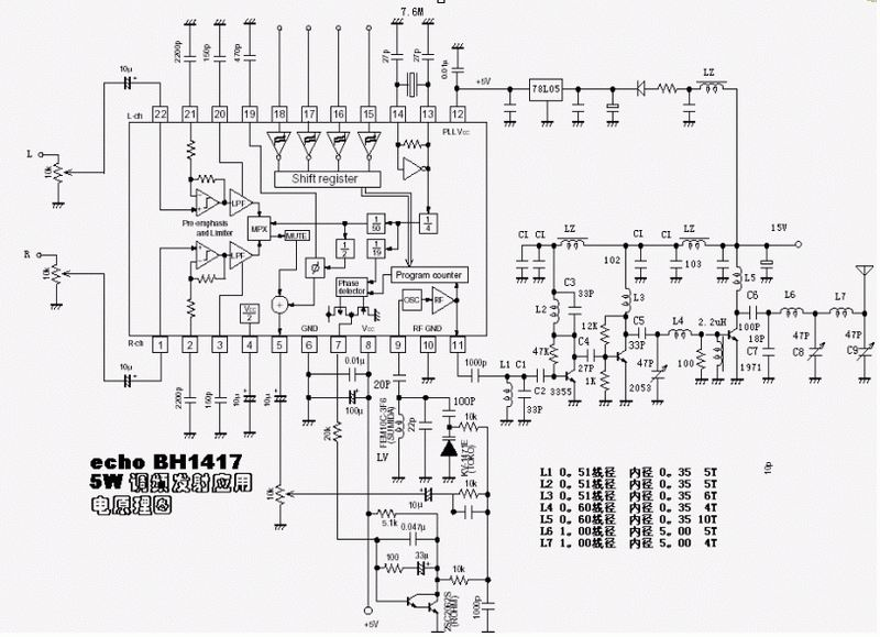 bh1417 transmetteur fm