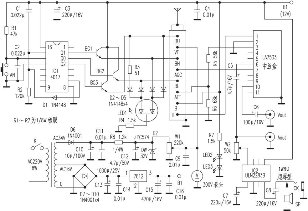 self-made 45-870mhz fm receiver