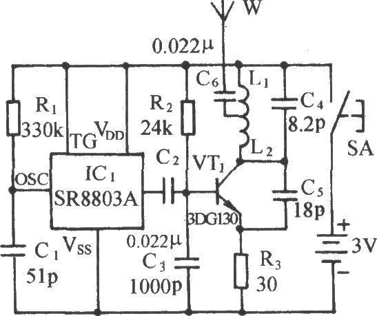 circuito transmissor fm sem fio de monitoramento  fm