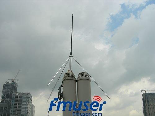10 copë FMUSER 1/4 valë GP Antenë Profesionale për 5w, 7w, 15w, 30w, 50w, 100w FM Transmetues BNC ose NJ me 8metra 26ft. kabllo
