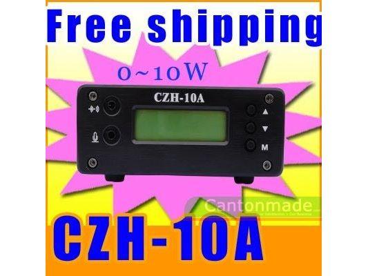 10 unitats FMUSER arriben 10W CZH-10A 87-108 MHz transmissor FM transmissió estèreo micròfon 1/4 ona GP antena alimentació