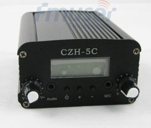 10 unitats FMUSER 5W CZH-5C transmissor estèreo FM PLL antena GP KIT de subministrament de potència