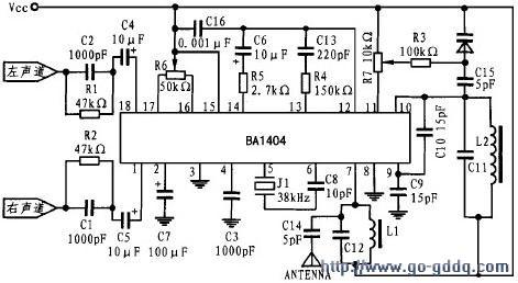 图 3 BA1404 的 应用