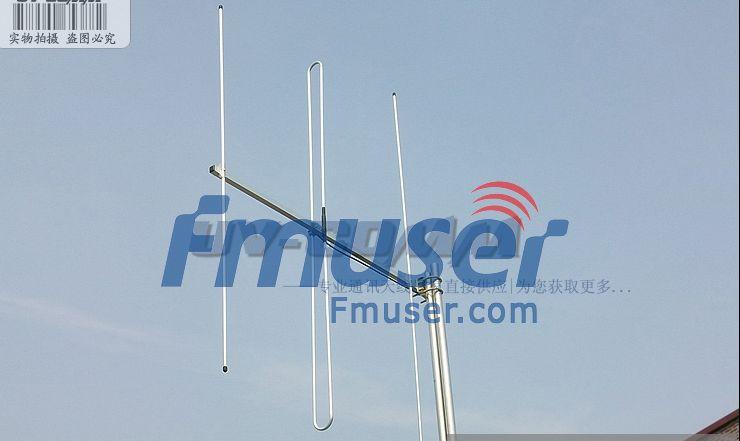 FMUSER FM Direksionele Yagi-antenne 88-108MHz 6dBi Drievoudige radioantenne