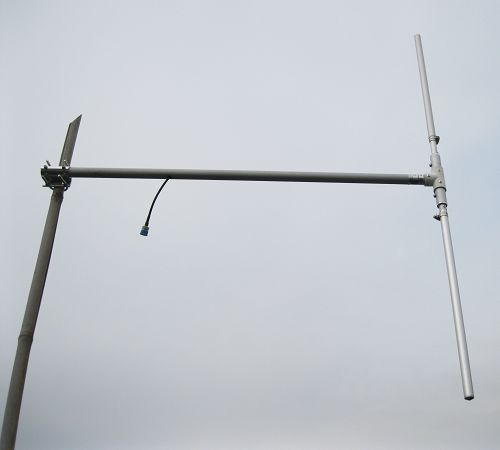 Fmuser DP-100 1 / 2 helfte Wave FM Dipool Antenna Hoë wins buite antenna 88 om 108mhz vir FM Transmitter tot 150w + 8M Feeder kabel gratis gestuur