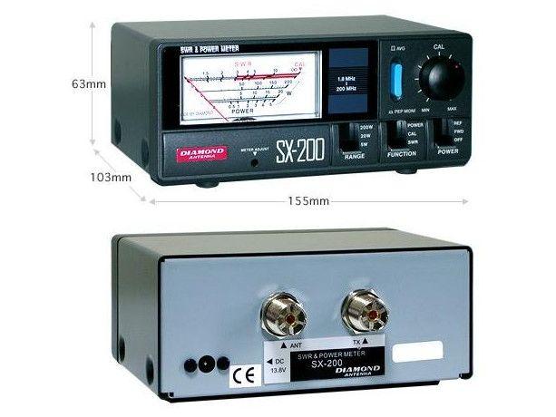 Freeshipping diamanti metër pushtet SX-200 5w 20w 200w 400w pushtet dhe SWR Meter Electornic metër 1.8-200MHz