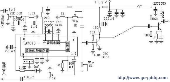diy 100mw tv transmitter printed circuit board  pcb