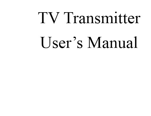 Descarregar Fmuser.org 50W-300W TV transmissor analògic manual d'usuari Manual d'Anglès PDF