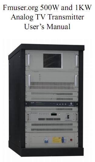 Instruccions Fmuser 500W 1KW TV analògica transmissor usuari