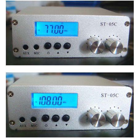 FMUSER ST-05C 0.1W / 0.5W domowy nadajnik FM stereo pll transmisja radiowa 77-108 MHZ