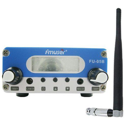 FMUSER 0.5 W CZH-05B CZE-05B FU-05B pll 87-108 mhz domowy nadajnik FM nadajnik stereo mikrofon + krótka antena + pokrywa zasilacza 300 M-1 KM