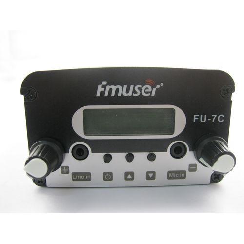 FMUSER 7W CZH-7C CZE-7C FU-7C Nadajnik FM stereo PLL 76MHz-108MHz pokrywa 1KM-2.5KM