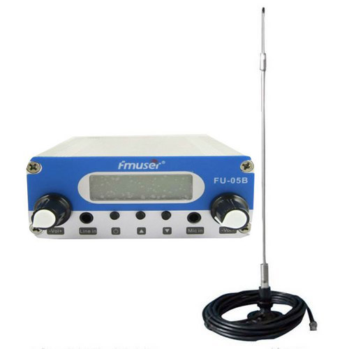 FMUSER 0.5W CZH-05B pll 87-108mhz nadajnik fm broadcast mikrofon stereo + antena samochodowa + zasilacz samochodowy samochodowy zestaw mobilny