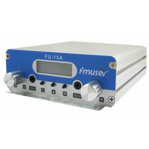 FMUSER 15W CZH-15A CZE-15A FU-15A Nadajnik FM stereo PLL Wzbudnica FM 88Mhz - 108Mhz pokrywa 2KM-4KM Kolor srebrny