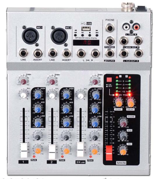 MG4S-USB 4 channel mixer / sound kuchanganya console