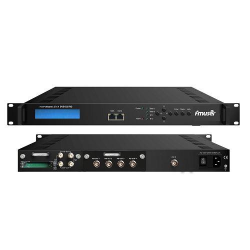 Fmuser FUTV468XB 2 Tuner CAM IRD (2 DVB-C / T / T2 / S / S2 RF pembejeo, 1 2 ASI IP Katika, 4 ASI IP Pato)