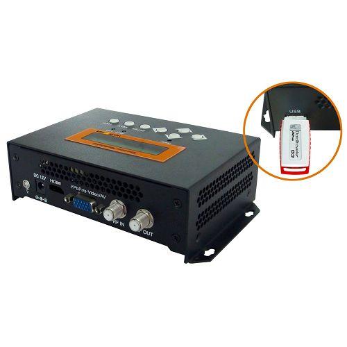 FMUSER FUTV4656 DVB-T / DVB-C (QAM) / ATSC 8VSB MPEG-4 AVC / H.264 HD Encoder Modulator (Tuner, HDMI, YPbPr / CVBS / S-Video in; RF nje) na Rekodi ya USB / Hifadhi / Uchezaji / Boresha kwa Matumizi ya Nyumbani