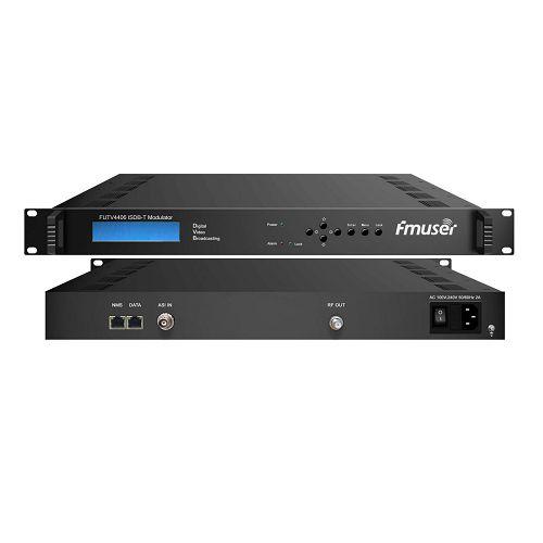Fmuser FUTV4406 IP kwa ISDB-T moduleta (1000M IP, 4 * IP katika, 4 * IP nje) na usimamizi wa mtandao