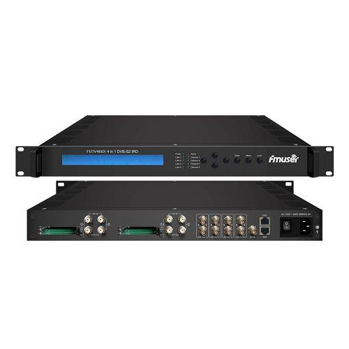 FMUSER FUTV468X 4 Tuner CAM IRD (4 DVB-C / T / T2 / S / S2 RF Input, 1 ASI 4 IP In, 4 ASI IP Output)