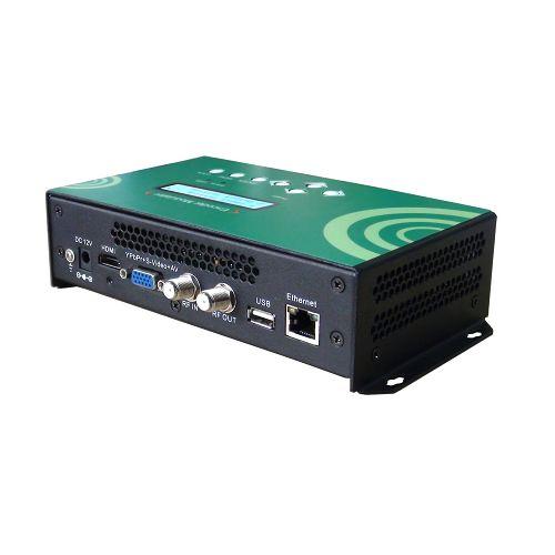 FMUSER FUTV4658 DVB-C (QAM) / DVB-T / ATSC 8VSB / ISDBT MPEG-4 AVC / H.264 HD Encoder Modulator (Tuner, HDMI, YPbPr / CVBS (AV) / S-Video ndani; RF nje) na USB Rekodi / Hifadhi / Uchezaji / Kuboresha na Webserver Dhibiti Matumizi ya Nyumbani