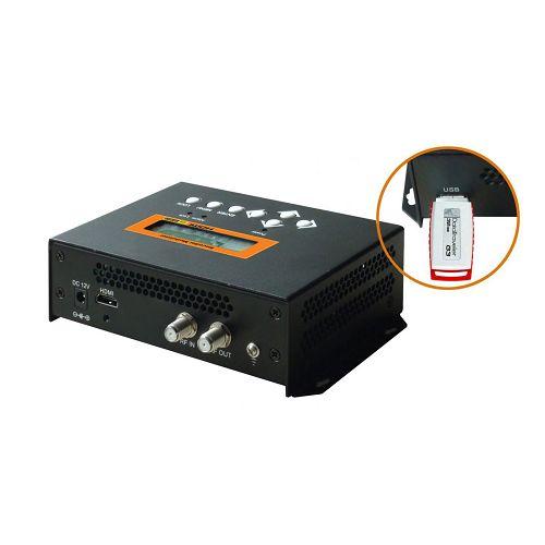 FMUSER FUTV4656H DVB-T / DVB-C (QAM) / ATSC MPEG-4 AVC / H.264 HD Encoder Modulator (Tuner, HDMI in; RF nje) na Rekodi ya USB / Hifadhi / Uchezaji / Upyaji wa Matumizi ya Nyumbani