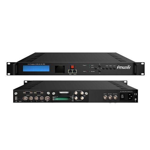 Fmuser FUTV466X 2 Tuner CAM HD IRD (2 DVB-C / T / T2 / S / S2 RF pembejeo, 1 ASI IP Katika, 2 1 ASI IP Pato) kwa MUX Biss