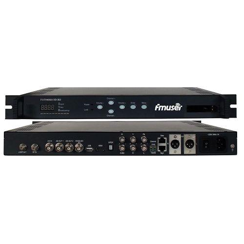FMUSER FUTV406X HD IRD (1 DVB-S / S2 / T / C, T-ISDB RF Input, 1 ASI IP In, 2 ASI 1 IP Output, HDMI SDI CVBS XLR Out) me MUX & BISS