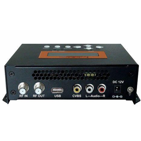 FMUSER FUTV4622A DVB-T MPEG-4 AVC / H.264 SD Encoder Modulator (Tuner, CVBS / RCA in; RF nje) na USB Upgrade kwa Matumizi ya Nyumbani