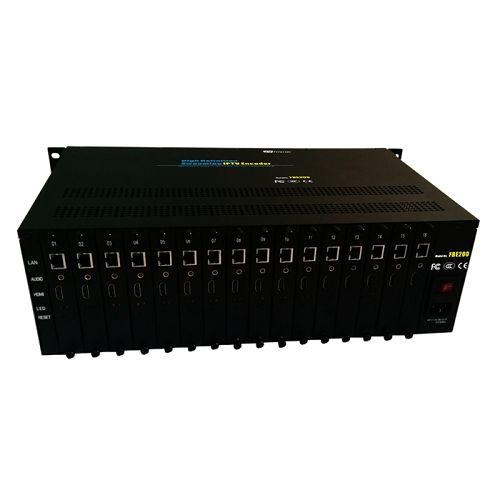 Fmuser 16 է 1 H.264 H.265 բարձր հստակության HD հոսքային IPTV Encoder-FBE216-H.265