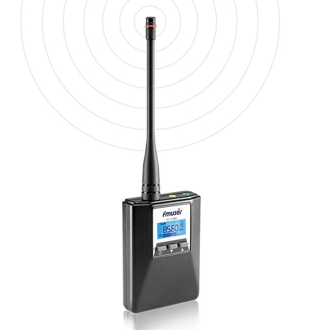 FMUSER FU-T300 0.2W Przenośny nadajnik FM Mini radioodtwarzacz Braodcast Stereo / Mono Regulacja mocy Do nauki jazdy School Meeting