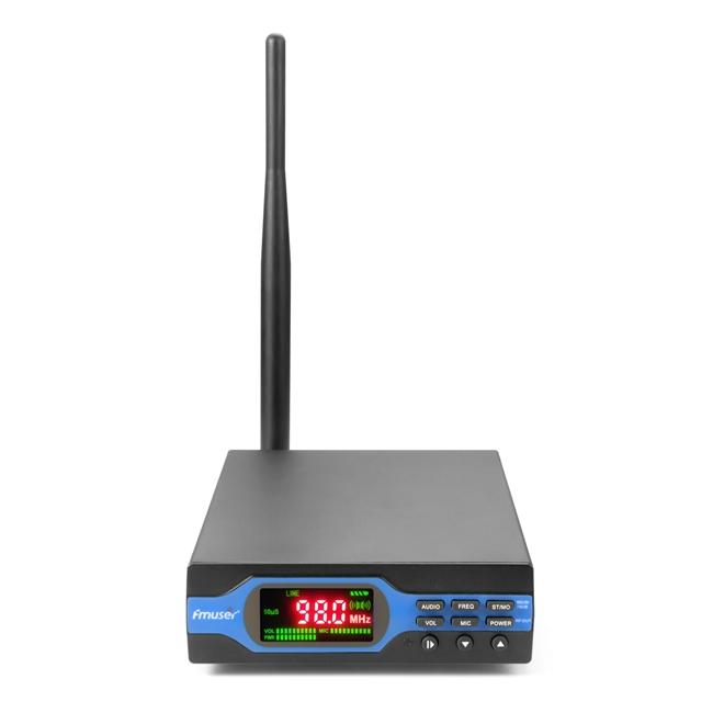 FMUSER FU-X01BK 1W Nadajnik FM Ulepszony 1 watt nadawca radiowy FM Funkcja MP3 + Bluetooth + Akumulator + Akcesoria