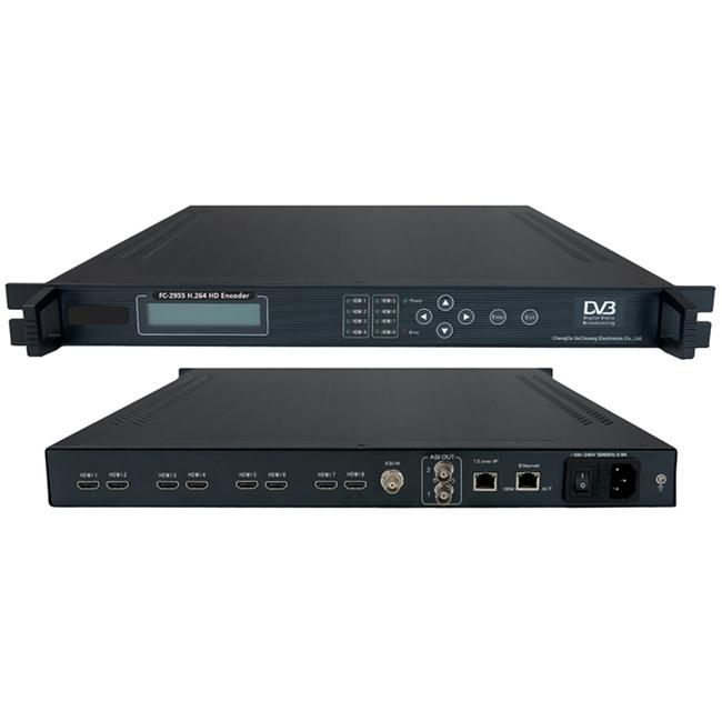 FMUSER FC-2955 Njia za 8 H.264 HDMI Video encoder kwa Hoteli IPTV