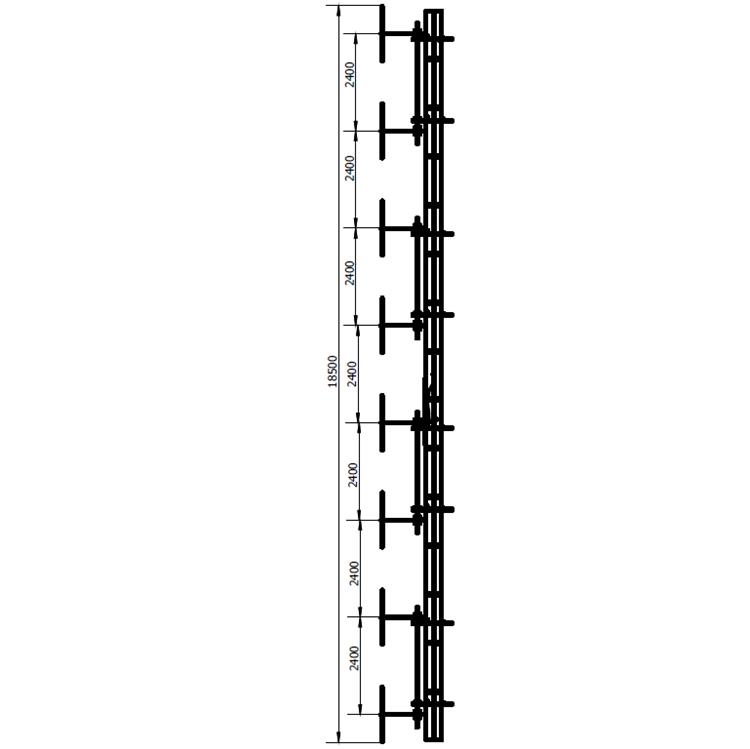 FMUSER FM-DW1 × 8 Dipool-antenne vir agt baaie vir radiosender van 100w-10kw