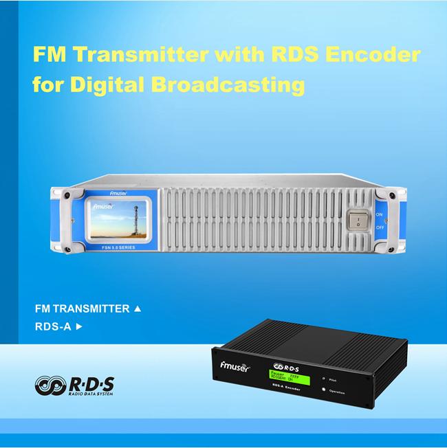 FMUSER 350W FM transmetues me ROD Encoder për RDS Transmetim Inteligjent Adresues