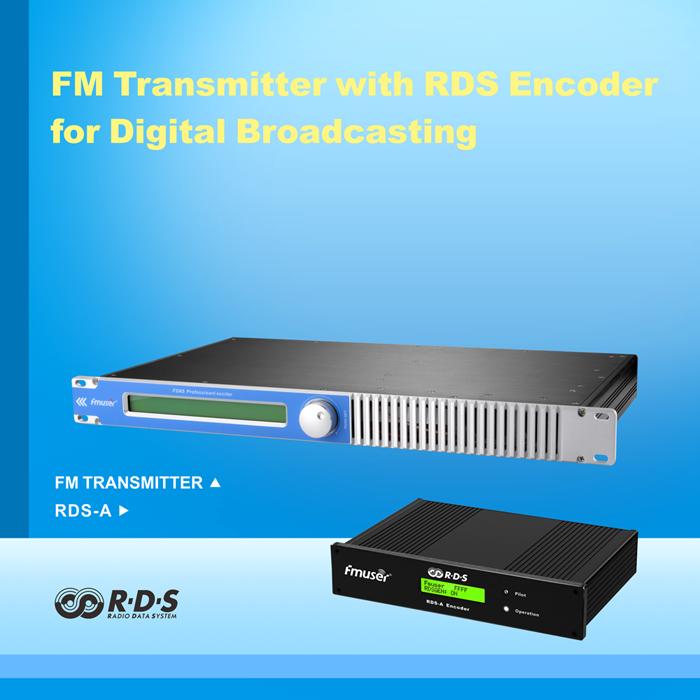FMUSER 30W FM Transmetues me ROD Encoder për transmetim inteligjent të adresueshëm me DP100 Dipole Antena dhe Kabllot plotë KIT