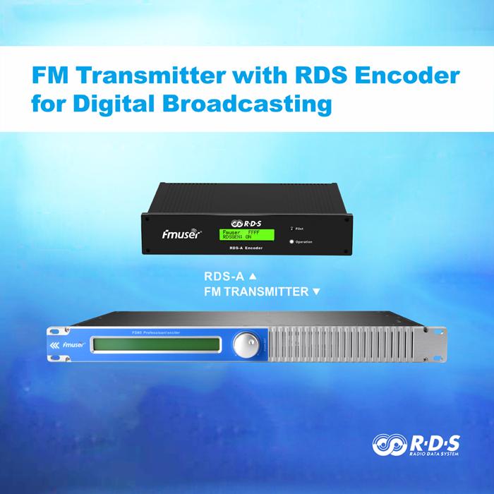 FMUSER 150W FM transmetues me ROD Encoder për RDS Transmetim Inteligjent Adresues