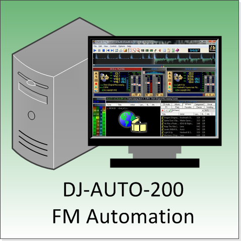 FMUSER DJ-AUTO-200 FM Audio Automatic Broadcast System Workstation for Radio Station in Air Room