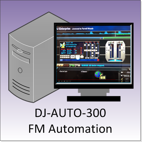 FMUSER DJ-AUTO-300 FM Audio Automatic Broadcast and Management System Workstation for Radio Station in Air Room