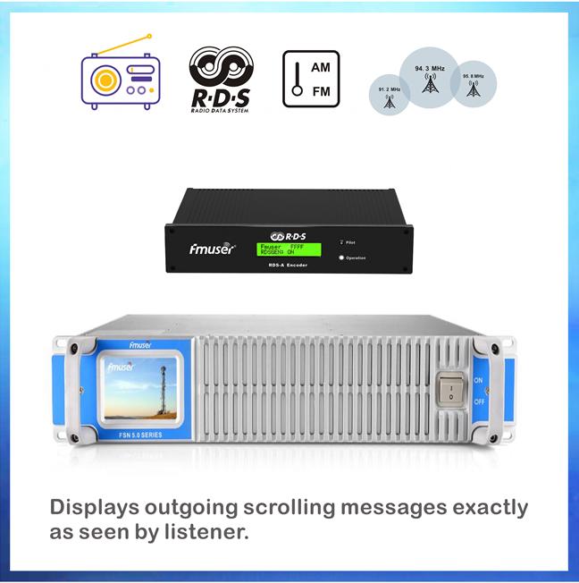 FMUSER 1500W FM transmetues me ROD Encoder për RDS Transmetim Inteligjent Adresues
