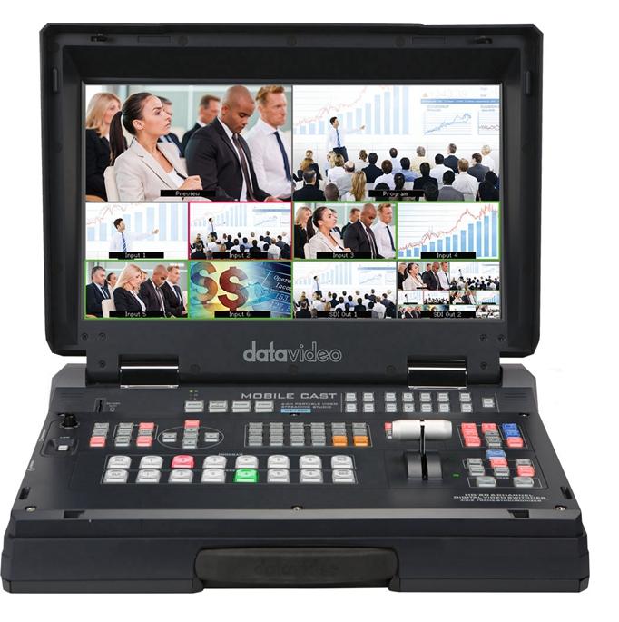 Datavideo HS-1300 6-Channel HD Bærbar videoopptak Streaming Living Switching 5-in-1 Virtual Studio